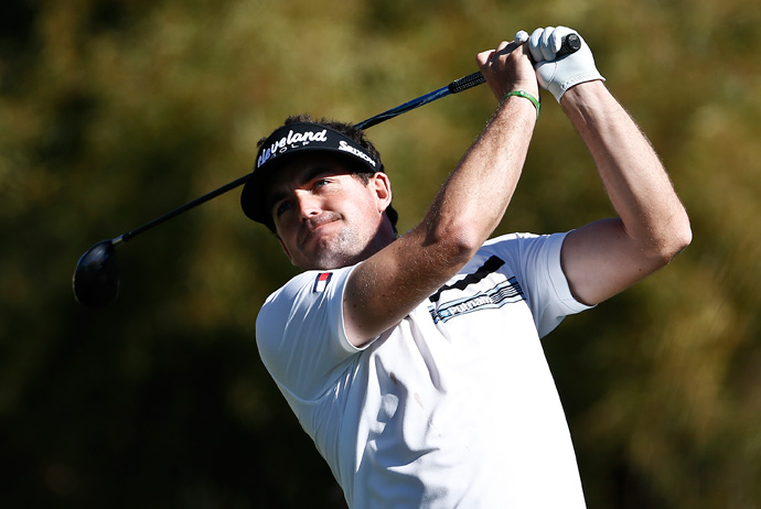 Keegan Bradley shot an eight-under 63 to move into third place.