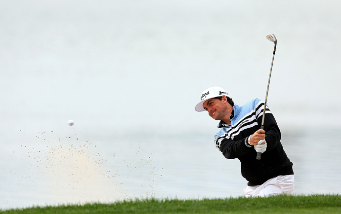 Keegan Bradley made five birdies and three bogeys for a 68.
