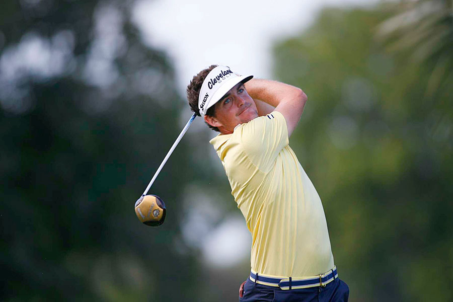 Keegan Bradley made five birdies on the front nine for a 67.