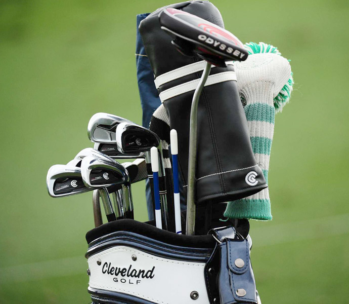 Keegan Bradley is using Cleveland CG7 Tour irons.