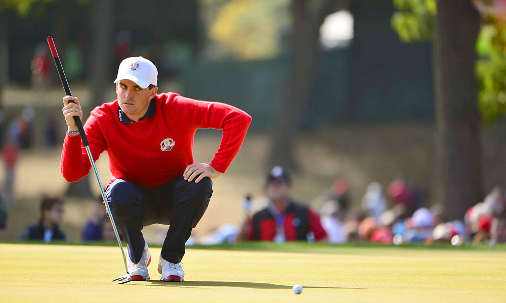 Keegan Bradley was pitted against Rory McIlroy in one of the marquee matchups of the day.