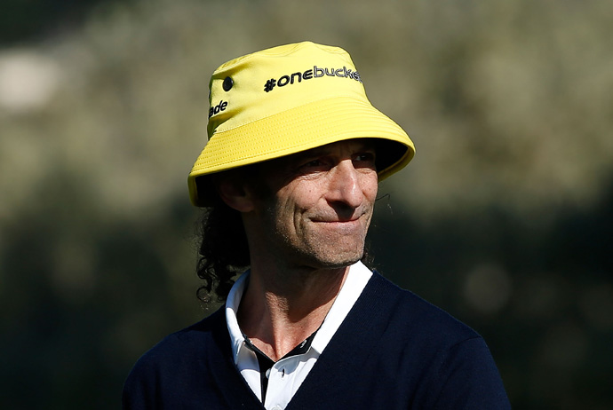 Kenny G sported one of TaylorMade's bucket hats.