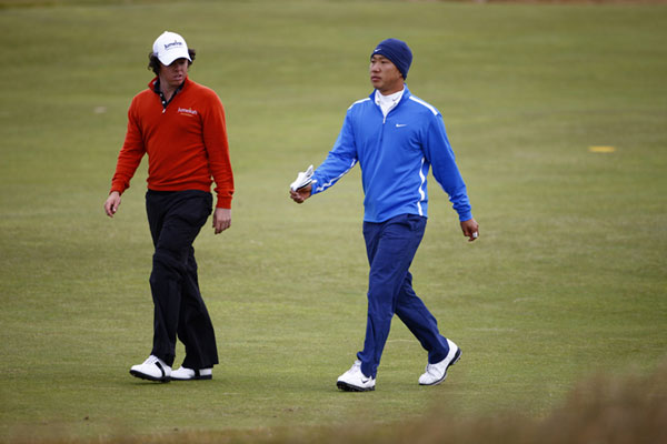 "Anthony Kim missed the cut at six over par, but his playing partner Rory McIlroy ended up at three over to make the weekend.                                                                     function fbs_click() {u=""http://www.golf.com/golf/gallery/article/0,28242,1911198,00.html"";t=document.title;window.open('http://www.facebook.com/sharer.php?u='+encodeURIComponent(u)+'&t='+encodeURIComponent(t),'sharer','toolbar=0,status=0,width=626,height=436');return false;} html .fb_share_link { padding:2px 0 0 20px; height:16px; background:url(http://b.static.ak.fbcdn.net/images/share/facebook_share_icon.gif?8:26981) no-repeat top left; }Share on Facebook                                                                                                                                                                                        addthis_pub             = 'golf';                                               addthis_logo            = 'http://s9.addthis.com/custom/golf/golf_logo.jpg';                                              var addthis_offset_top = -155;                                              addthis_logo_color      = '555555';                                              addthis_brand           = 'Golf.com';                                              addthis_options         = 'email, facebook, twitter, digg, delicious, myspace, google, reddit, live, more'                                                                                                                                            Share"
