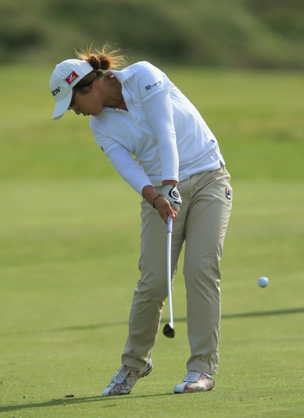 Lydia Ko, 15, is currently tied for sixth after a one-under 71.