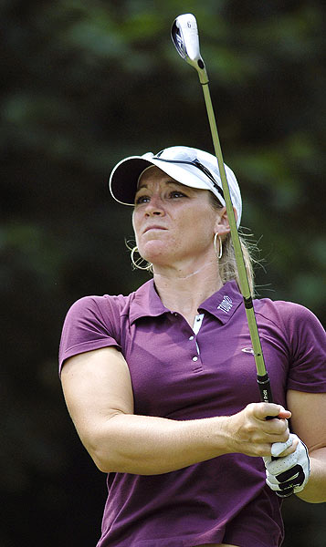 Kristy McPherson is two strokes behind Gal after a five-under 67.                                               More LPGA Galleries                        • Gulbis: Career in pictures | Swing sequence                        • Creamer: Career in pictures                        • Wie: Career in pictures | Swing sequence                        • Rawson: Career in pictures