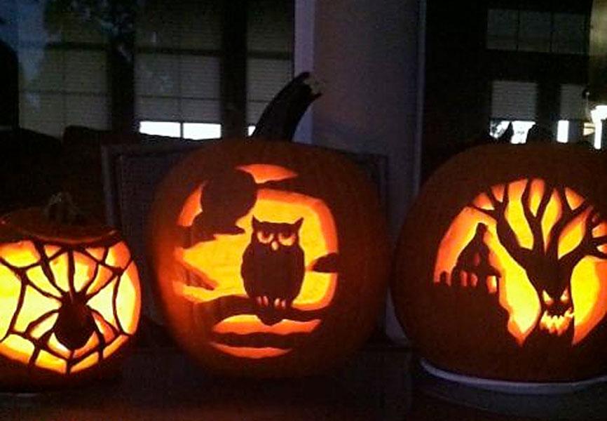 LPGA player Karen Stupples: @Kstupples: My final pumpkin, decided on an owl