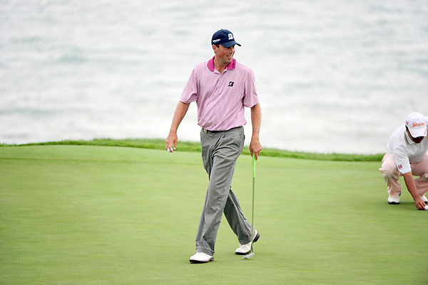 Kuchar finished the first round on top of the leaderboard at five under.