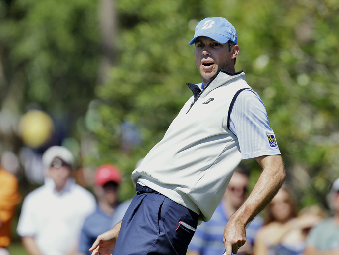 Matt Kuchar made an early run, but he eventually finished at even par.