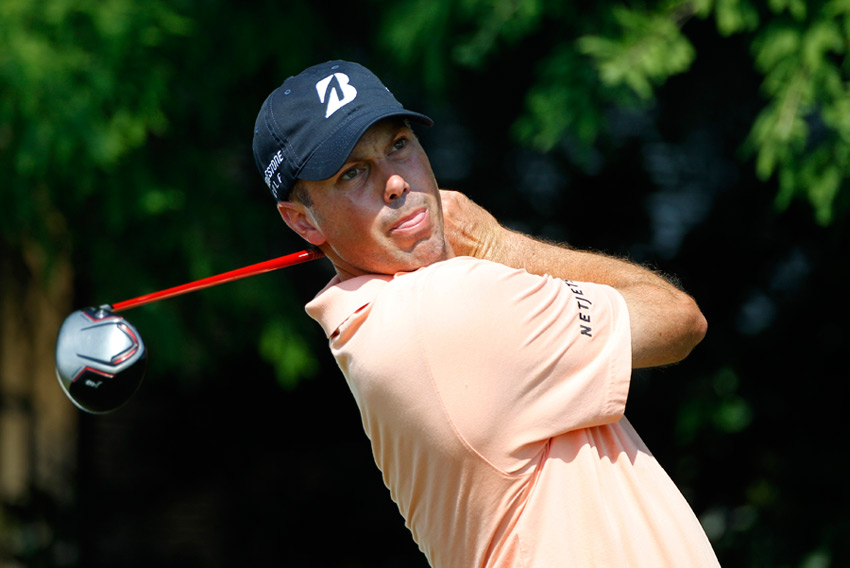Matt Kuchar, who won last week at the Players, is among a large group one shot back.