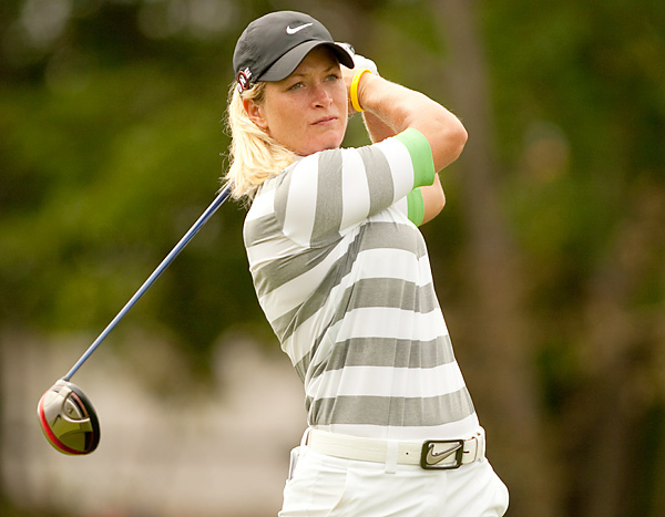 Suzann Pettersen finished in a four-way tie for second after shooting a 69 on Sunday.