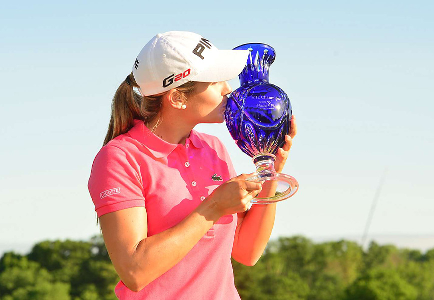 Azahara Munoz beat Candie Kung in the final match, 2 and 1, for her first career LPGA Tour victory. It was an emotional and controversial win.