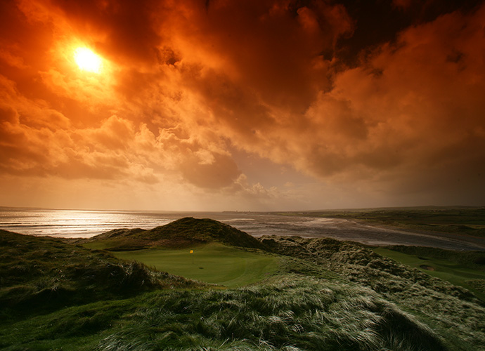 "Lahinch Golf Club, Lahinch, Co. Clare: Ranked No. 40 in our Top 100 Courses in the World, Lahinch is known as the ""St. Andrews of Ireland,"" not only because the town and golf course are so seamlessly integrated, but because its two principal designers were so importantly connected to St. Andrews, Old Tom Morris (1893) and Alister MacKenzie (1927). The famous goats, the sea and two of golf's greatest blind holes, the par-5 3rd (""Klondyke"") and the par-3 4th (""Dell"") elevate Lahinch. ($69-$208; 011 353 708 1003, lahinchgolf.com)"