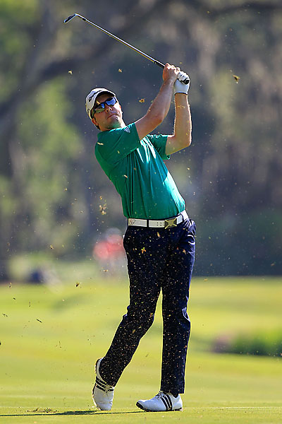 Martin Laird was in the lead until he finished bogey, double bogey, bogey.