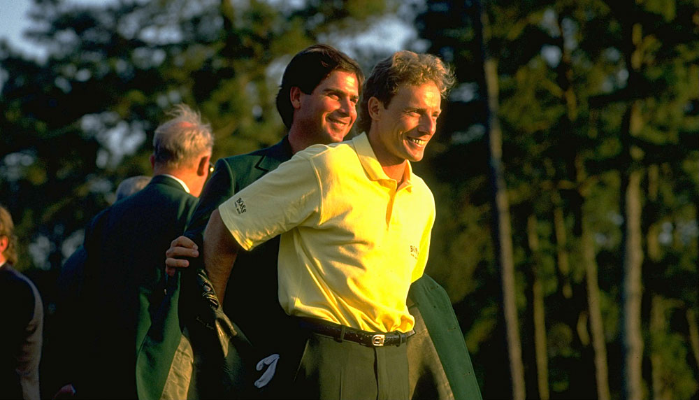 Bernhard Langer made an eagle on No. 13 and a birdie on No. 15 to cruise to a four-shot win in 1993.