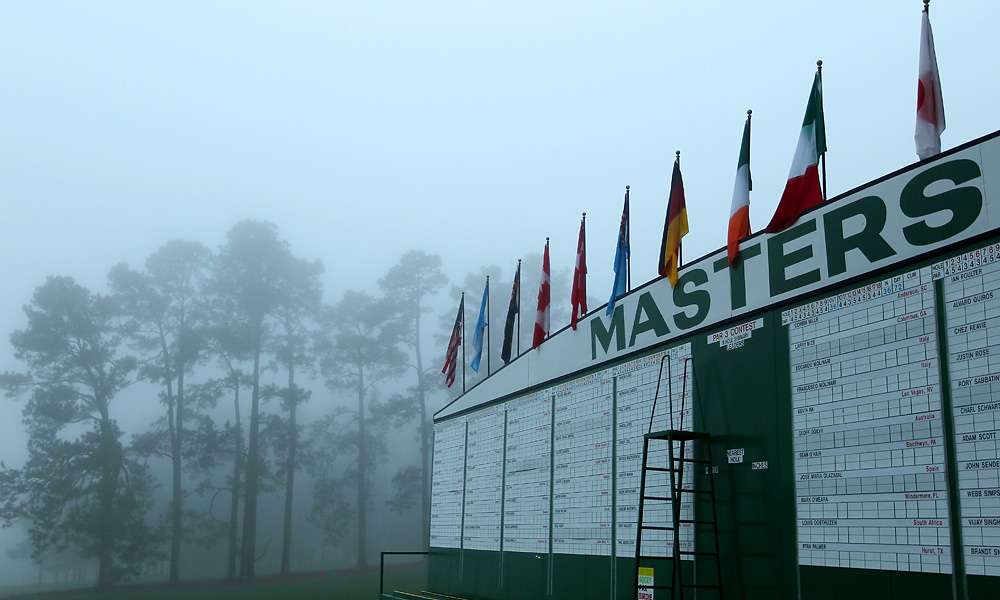 A storm rolled through Augusta National on Tuesday night, reportedly dropping more than an inch of rain on the area.