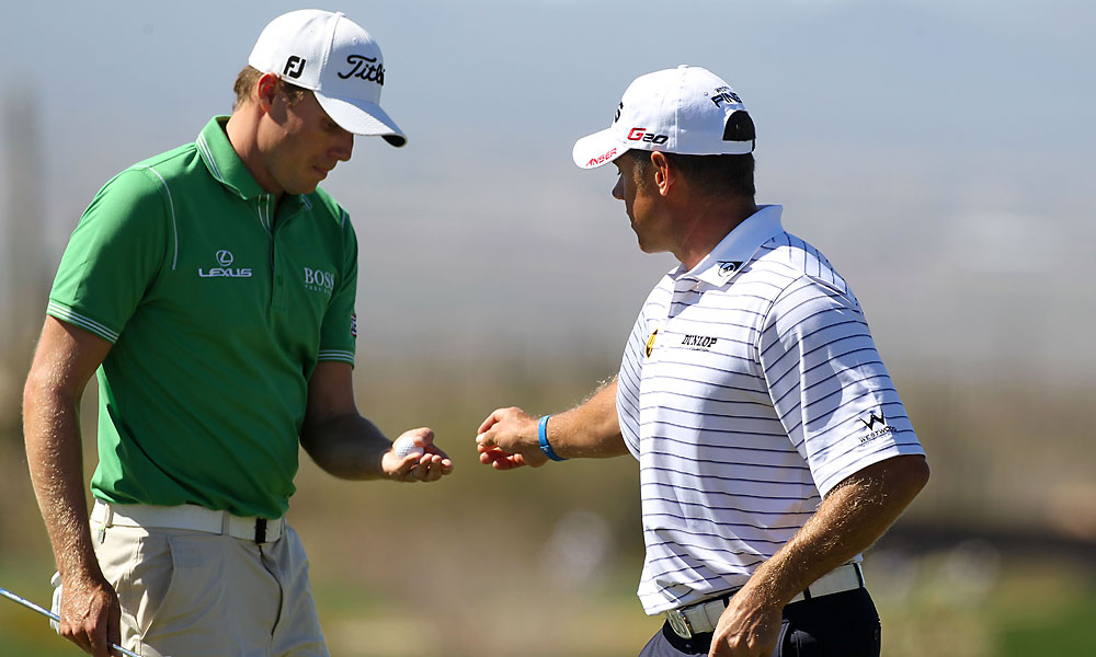 Lee Westwood defeated Nick Watney, 3 and 2, to move on to the quarterfinals for the first time.