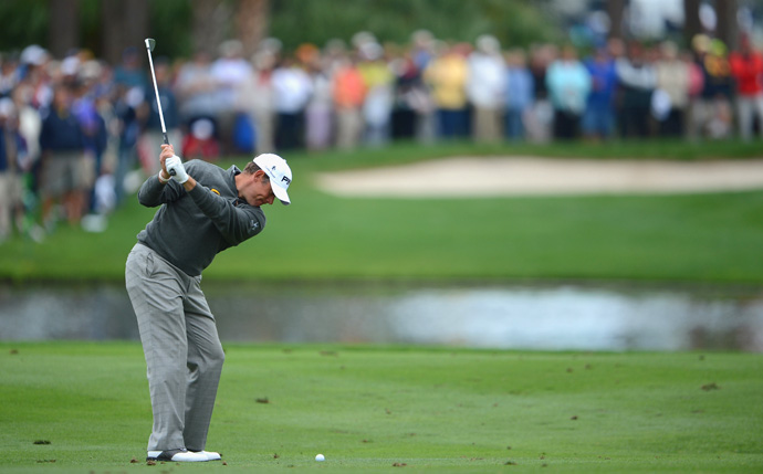 Lee Westwood is only three shots off the lead after a two-under 68.