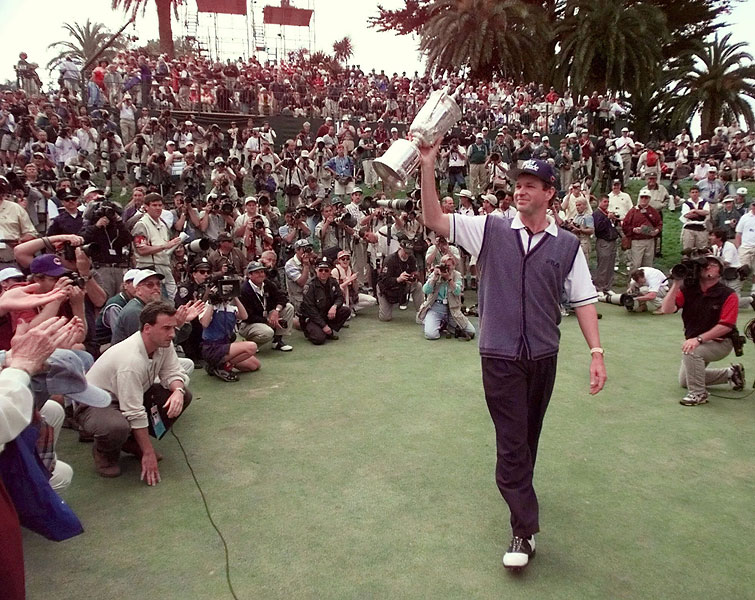 Lee Janzen came from seven strokes back to win his second Open in six years.