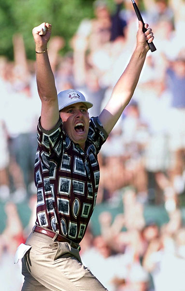 The U.S. won when Justin Leonard made his miraculous 45-foot putt in Brookline.