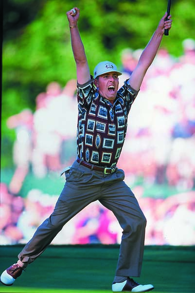"At the 1999 Ryder Cup at Brookline, Miller, taking stock of Justin Leonard's early struggles, suggests that Leonard should have stayed back at the hotel and watched on TV. Jumping to Leonard's defense, Jim Furyk fires back: ""What he said about Justin was just wrong. There's no room for that . . .The flip side is he's very popular with the viewers. People love hearing stuff like that, but people love going to NASCAR to watch wrecks, too. I don't know what that says about us."""