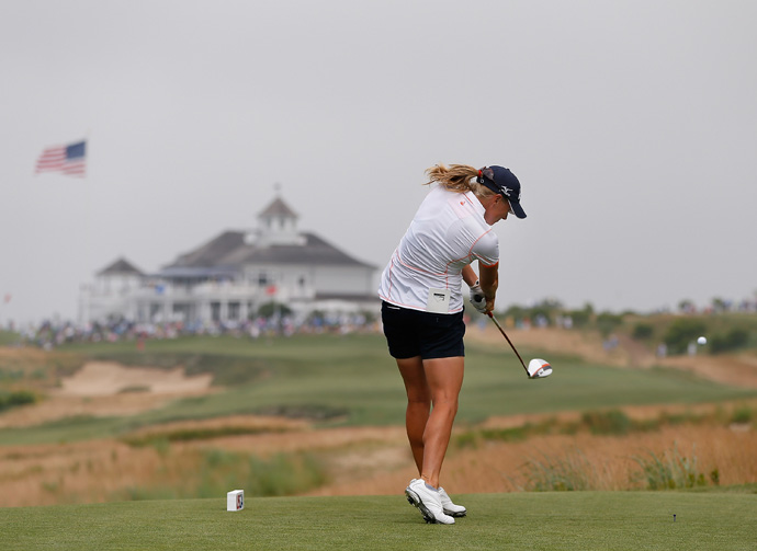 Stacy Lewis fell out of contention after a 76.