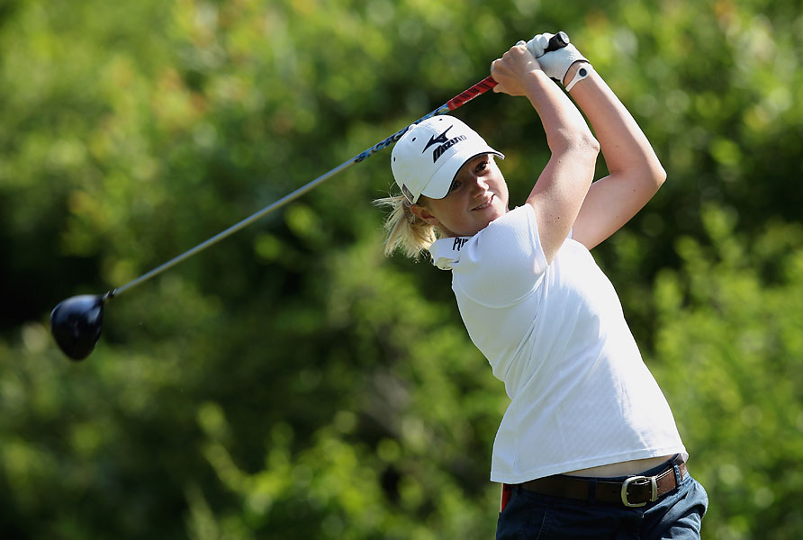 Stacy Lewis scored even-par after Friday's second round.