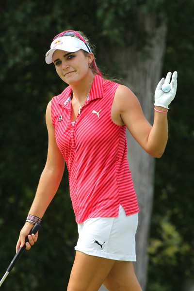 Lexi Thompson dropped out of the hunt after a 1-over 72.