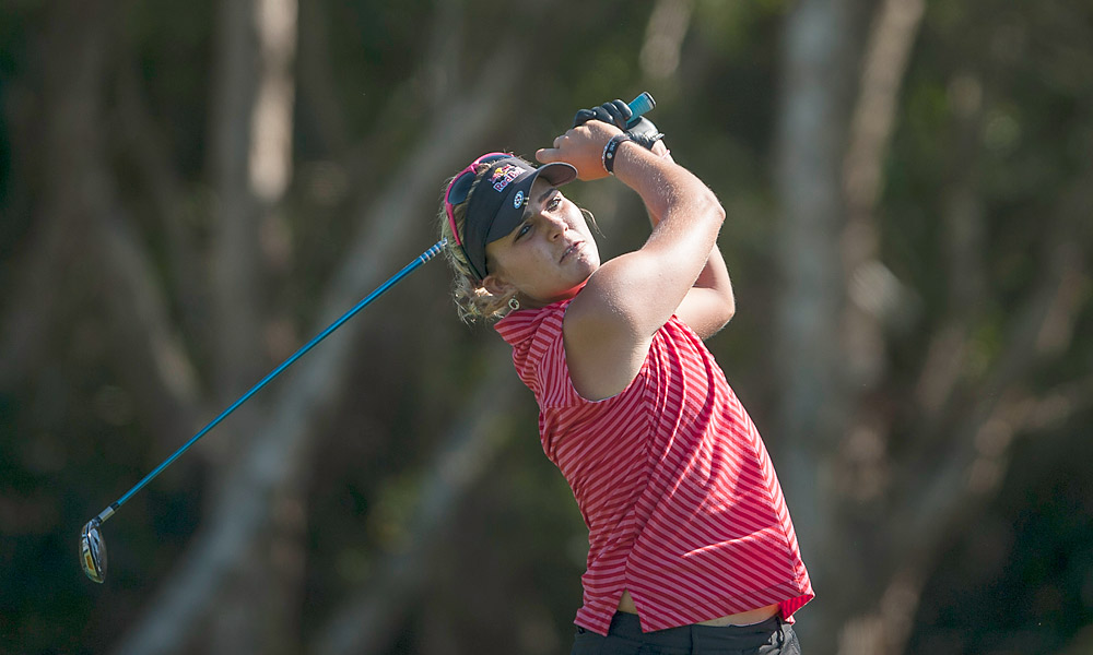 Lexi Thompson fired an even-par 72.