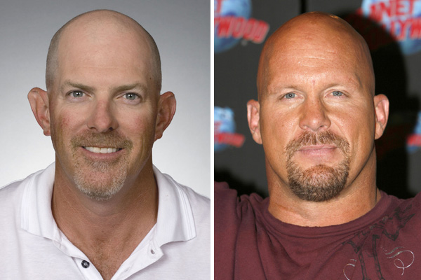 "Frank Lickliter III and ""Stone Cold"" Steve Austin"