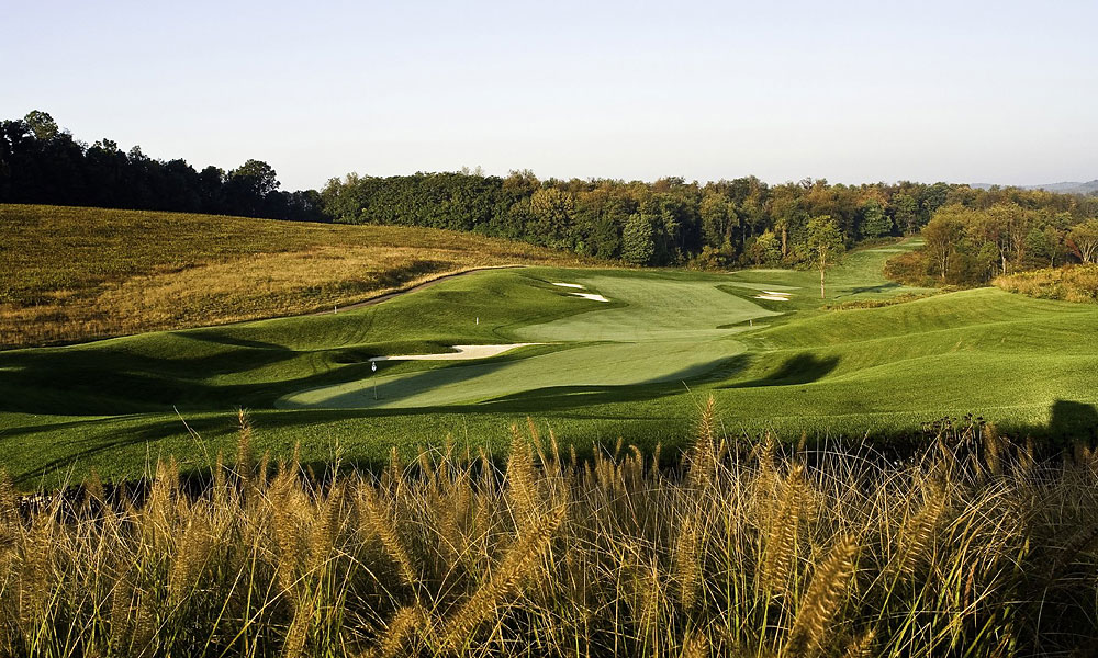 7. Longaberger Golf Club, Nashport, OH; 740-763-1100, longabergergolfclub.com                       Naturally, college football dominates the sporting scene in Columbus, Ohio, but its remarkable golf offerings, such as Muirfield Village, The Golf Club and Ohio State Scarlet, aren't too shabby, either. But you'll have to drive 45 miles east to find the top public-access track, Longaberger. Perennially ranked among GOLF Magazine's Top 100 You Can Play, this gift to the masses from its legendary basket-making parent is a 1999 Arthur Hills design mixing open and wooded holes, all flawlessly groomed, and boasts a superb practice facility. The downhill plunge at the par-5 5th and the long par-4 8th that's backdropped by a lake are two of the Midwest's best.