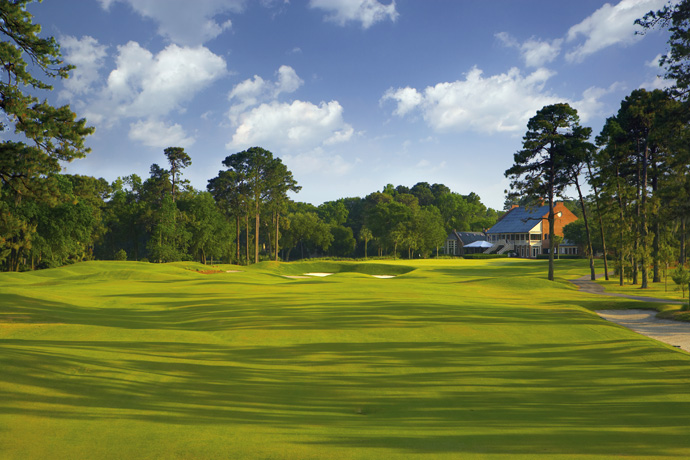 "Long Cove Club                           Hilton Head Island, S.C.                           longcoveclub.org                                                      Pete Says: ""At Long Cove, I purposely contoured the greens with more gentle slopes to accommodate increased green speeds."""