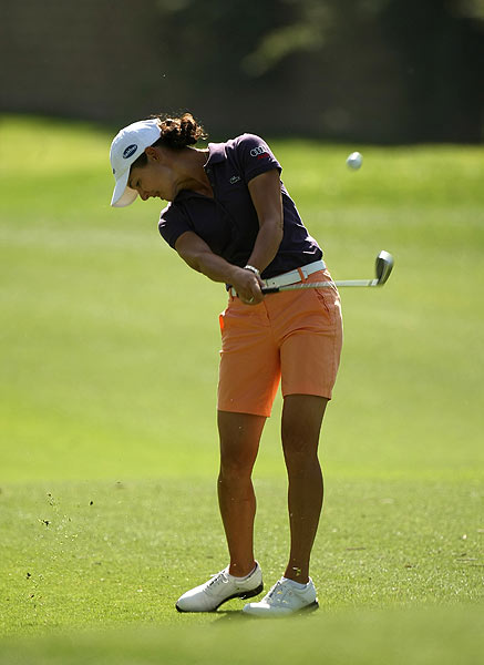 Defending champion Lorena Ochoa got off to a rocky start with a 1-over 73.