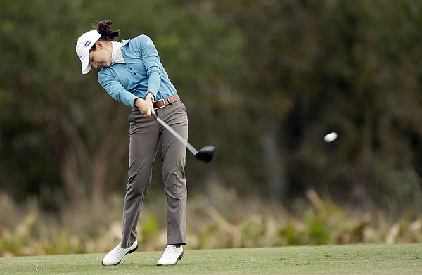 made eight birdies in her opening round.