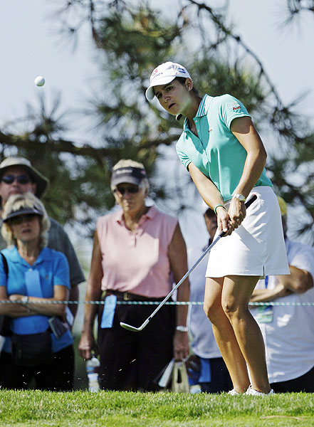 With a double bogey on 18, Lorena Ochoa ended up at nine under for the week.