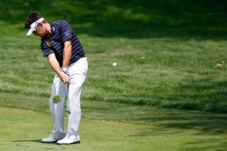 Louis Oosthuizen made three birdies in the last 10 holes to finish one shot off the lead.