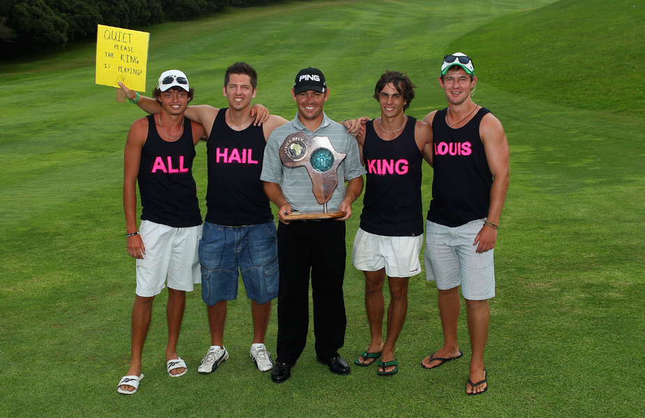 Louis Oosthuizen hung out with some of his biggest fans after winning the Africa Open.