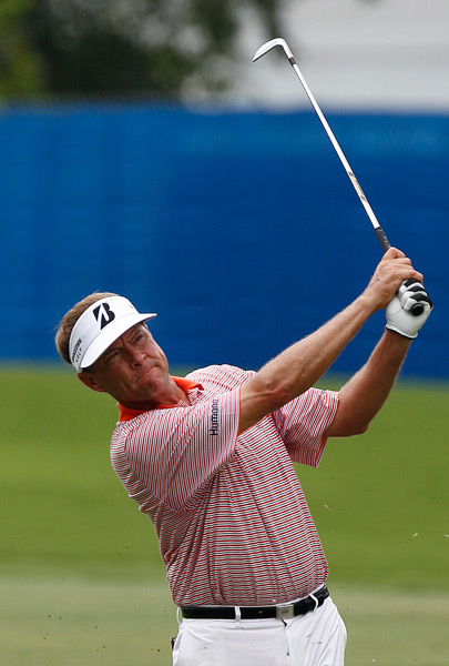 Despite a double bogey on No. 7, Davis Love III shot a four-under 66.