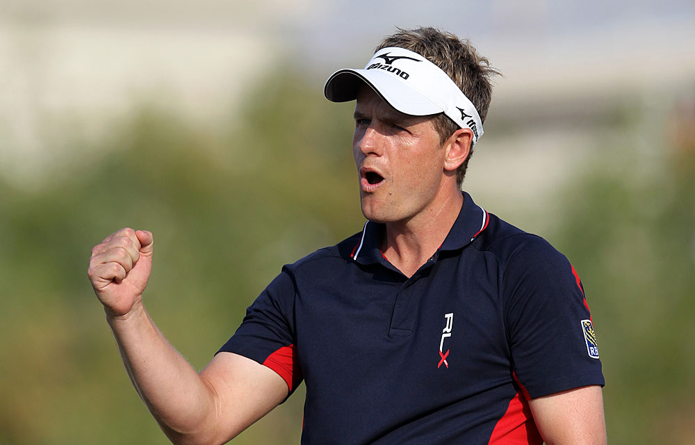 Luke Donald                           Reason to Celebrate: Donald finished third at the Dubai World Championship to become the first player to lead the PGA and European tour money lists in the same season.