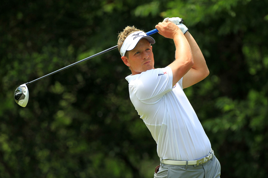 Luke Donald failed to make a move on Saturday. He shot even par.