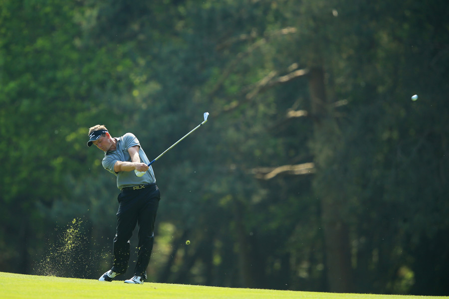 Luke Donald is two shots back after a four-under 68.