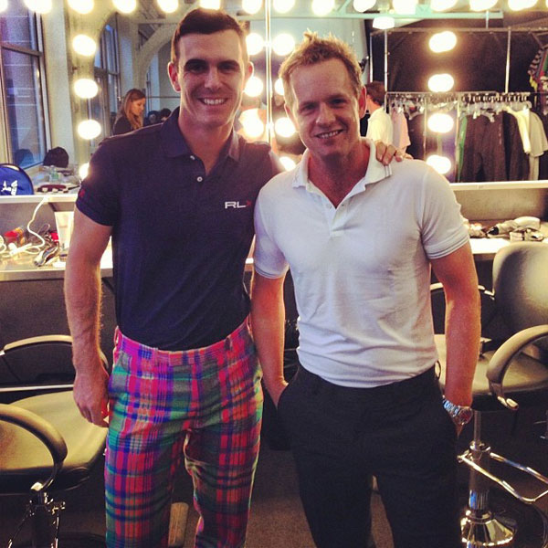 @LukeDonald: #RLX shoot today in NYC, @BillyHo_Golf going with his usual conservative look!!                             #HeyWang