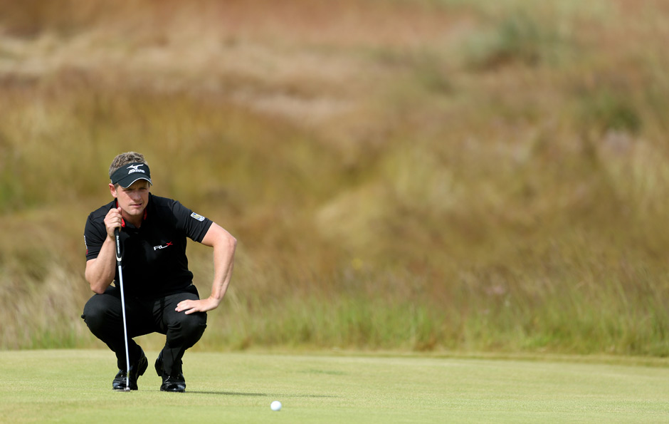 Luke Donald birdied two of the last three holes to finish four shots off the lead.