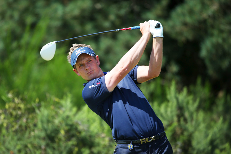 Luke Donald made three birdies on the back nine to tie for fifth.