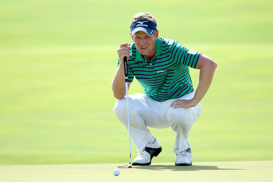 World No. 1 Luke Donald made the cut on the number, and he shot a two-over 74 on Saturday.