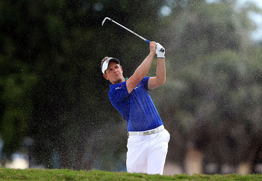 Luke Donald rebounded from a double bogey on the par-3 fourth with four birdies to shoot a three-under 69.