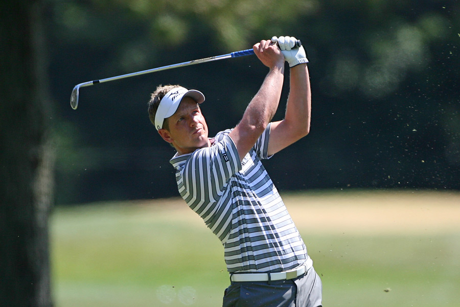 Luke Donald was in danger of missing the cut, but he managed to shoot a two-under 69.