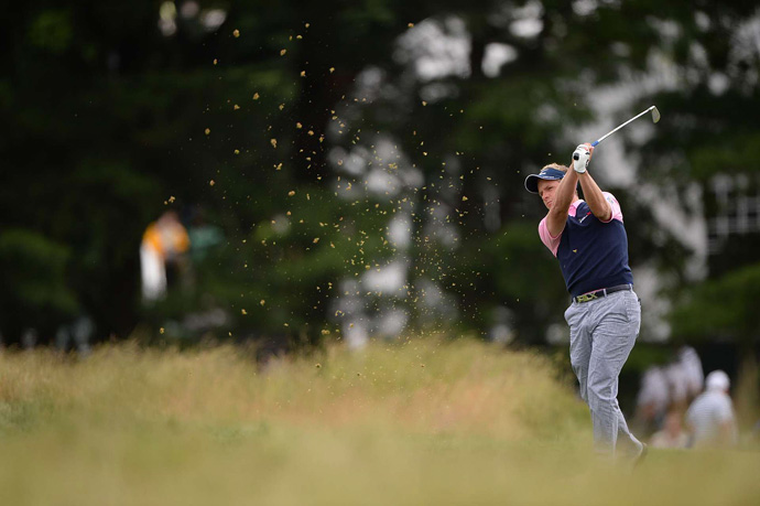 Luke Donald finished at even par, and he is right in the hunt heading into the weekend.
