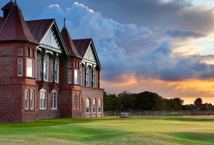 Royal Lytham & St. Annes Golf Club -- Lancashire, England                           Few clubhouses are a part of the course like that at Royal Lytham & St. Annes Golf Club. For well over a century, opening in 1898, the clubhouse has formed the backdrop for the finishing hole, so close it seems to be in play.