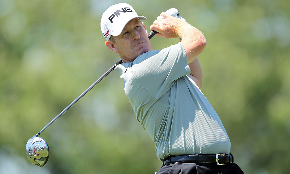 PGA Tour veteran Jeff Maggert fired a 66 to tie for the first-round lead.