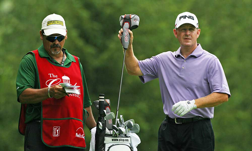 Veteran Jeff Maggert finds himself tied for second after a first-round 64.